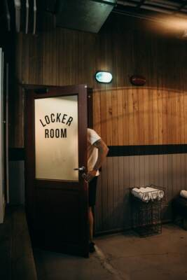 Person Entering Locker Room