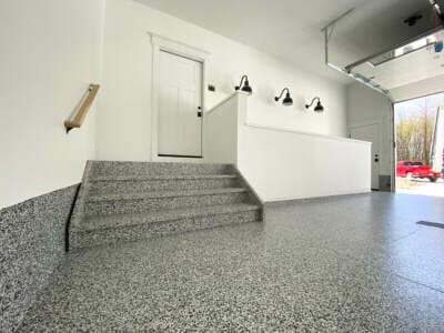 Finished epoxy garage floor