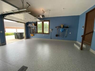 Finished epoxy floor project by OGI | Epoxy floor cost