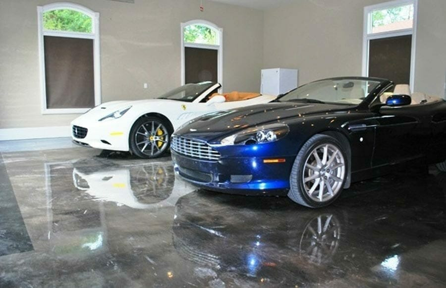 turn your garage into a showroom with epoxy flooring