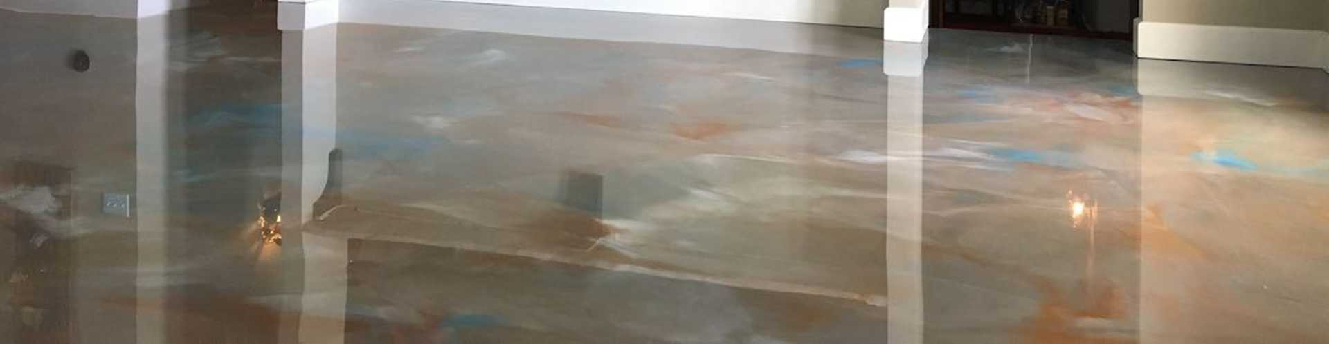 Finished Epoxy Basement Flooring