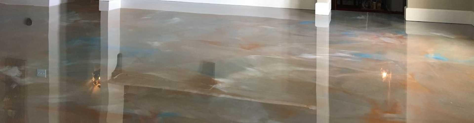 Finished Durable Basement Flooring