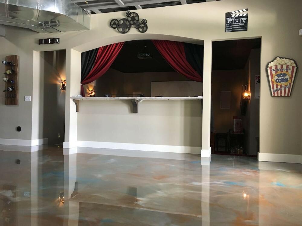 Basement Floor Epoxy installed by Ohio Garage Interiors