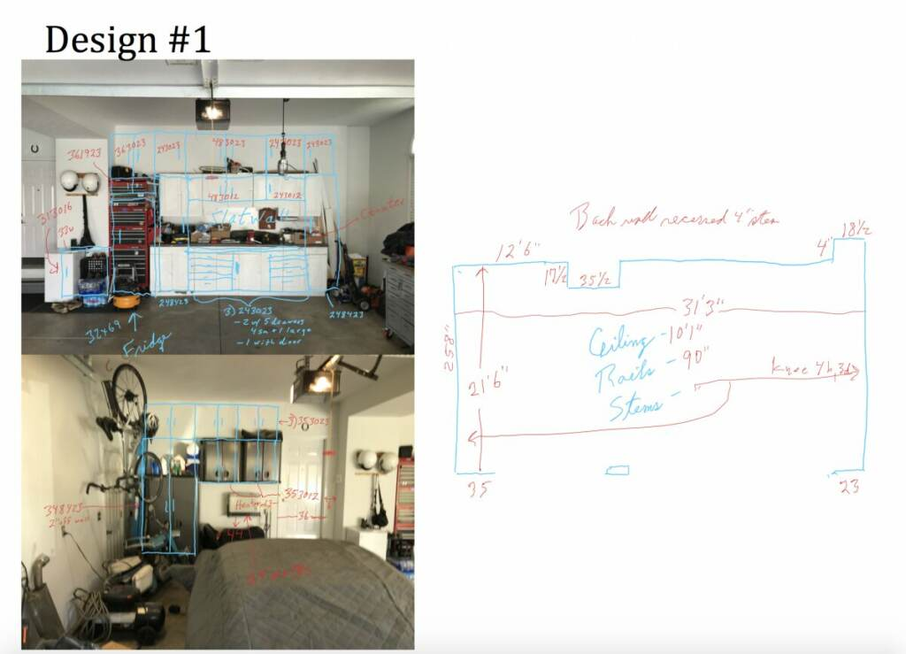 garage renovation initial measure and plan