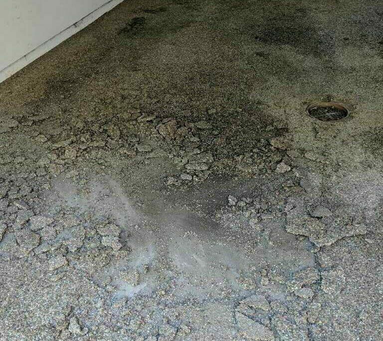 natural stone epoxy flooring in Ohio garage