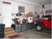 garage flakes   Garage Clutter