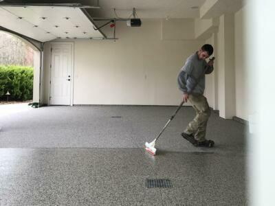 The garage floor resurfacing process