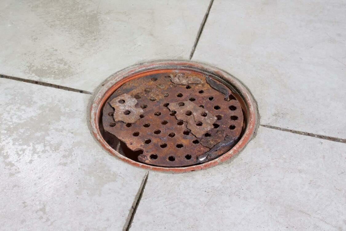 Rusty Home Depot drain cover