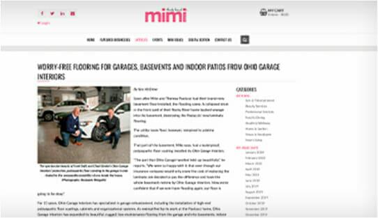 Mimi article about OGI garage floor epoxy