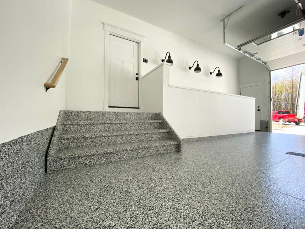 Epoxy garage floor designed by OGI
