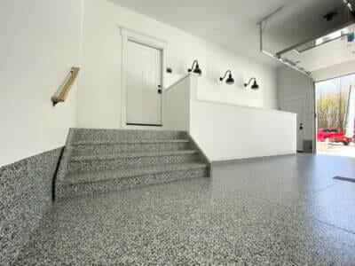 An epoxy garage floor installed by OGI